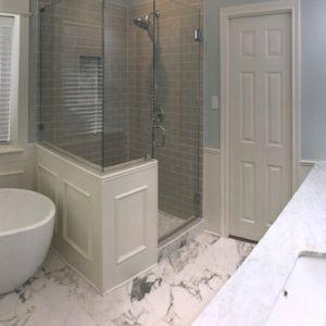 high end bathroom remodel